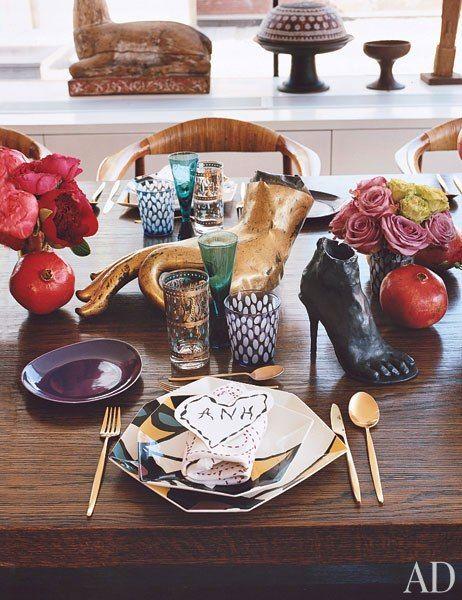 Diane von Furstenberg tablescape
