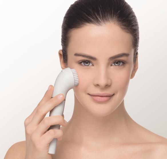 Braun Face reinigingsborstel in gebruik